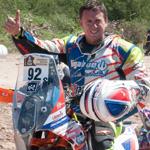 #Dakar2017 #CarloVellutino se mantiene entre los 100 mejores en motos